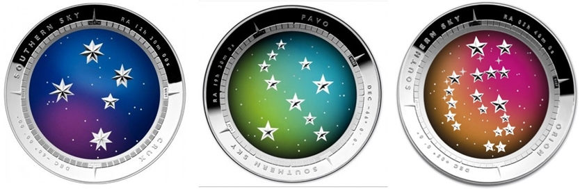 Australia-Southern-Sky-Domed-Silver-Coins-Crux-Pavo-Orion