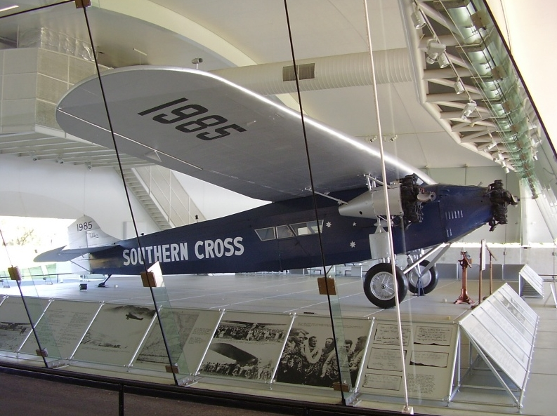 The Southern Cross replica as seen today in the Sydney aviation museum.