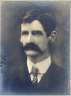 Henry Lawson in portrait  as a young man
