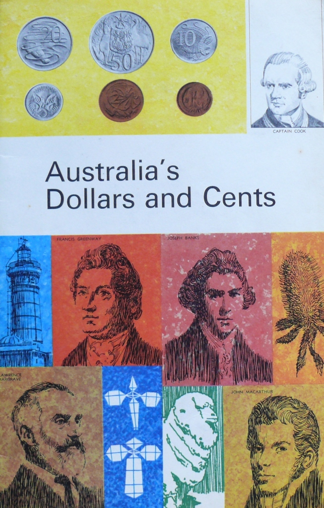 Front Cover of the decimal currency guide book