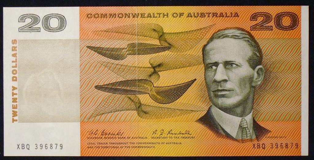 Image of an Australian Twenty Dollars paper banknote