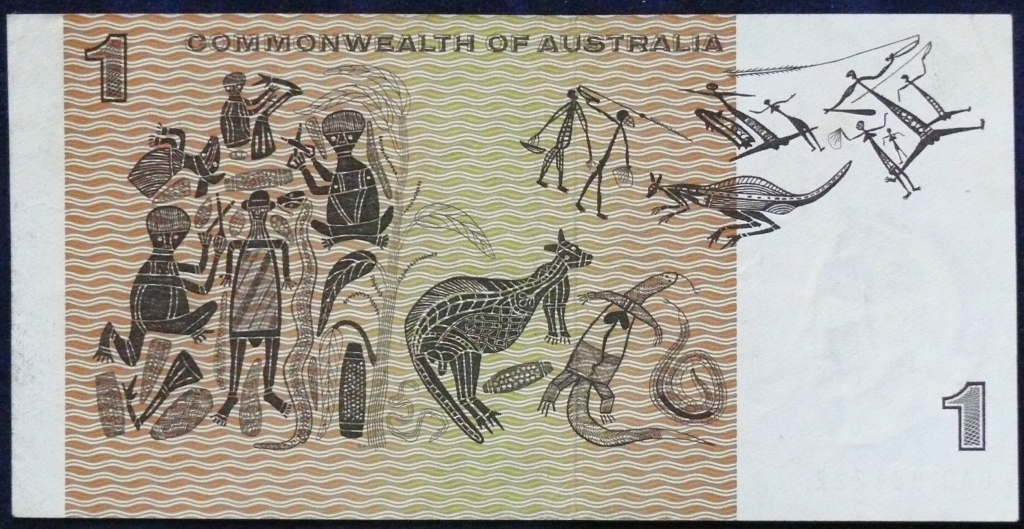 Image of an Australian One Dollar paper banknote