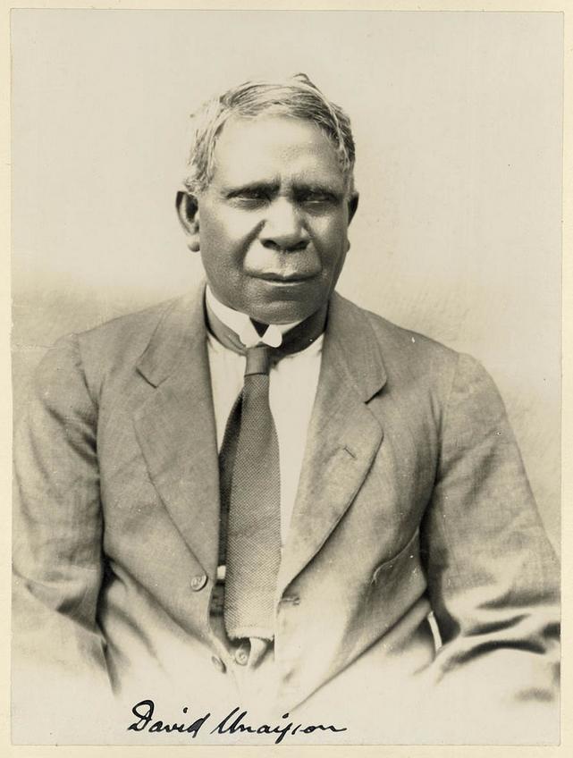 An early photograph of David Unaipon