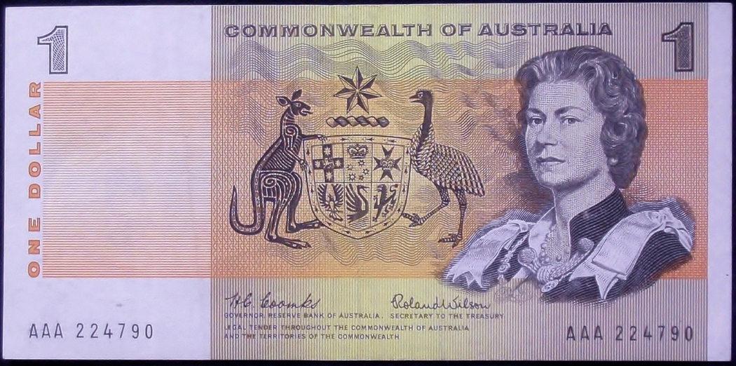 This First Prefix One Dollar note from Australia makes an outstanding investment