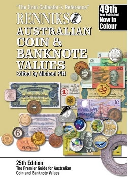 One of Australia's best known reference books for Coin and banknote values