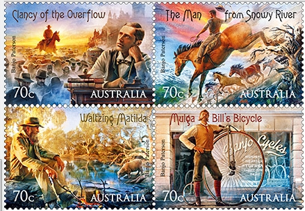 2014 Stamp release by Australia Post featuring Australian Bush Ballads