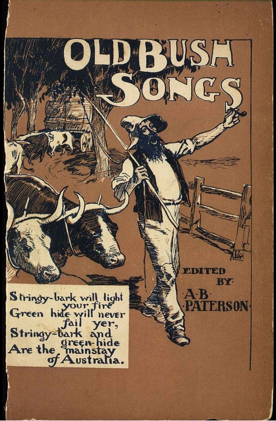 Cover of the 1905 book published with ballads and songs from Banjo
