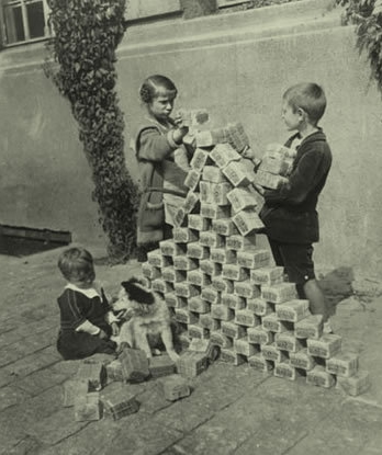 Like the Egyptians of old these children are more than wealthy enough to build a pyramid.