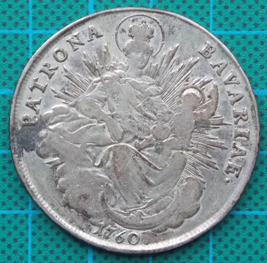1760 PATRON BAVARIA MAXIMILLIAN III JOSEPH THALER