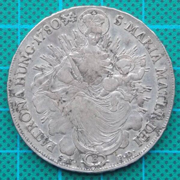 1780 B Haus Habsburg Hungary One Thaler Maria Theresa Madonna
