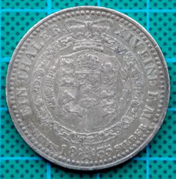 1835 HANNOVER EIN THALER WILHELM IV