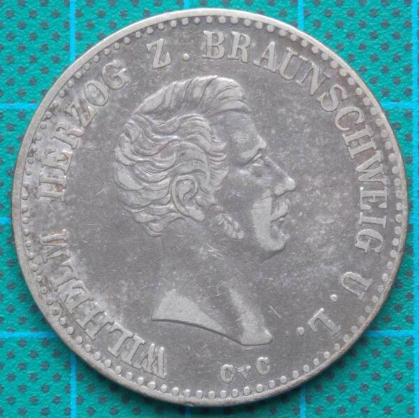1842 BRAUNSCHWEIG EIN THALER WILHELM HERZOG