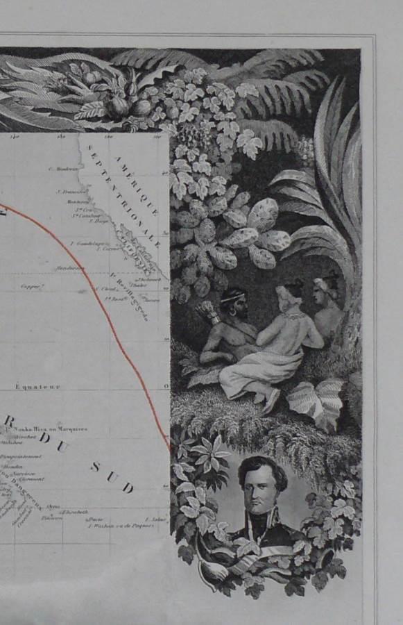 1852 Oceania and New Zealand - Levasseur / Bonheur