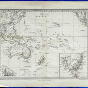 1880 Antique Map of Australia and Polynesia