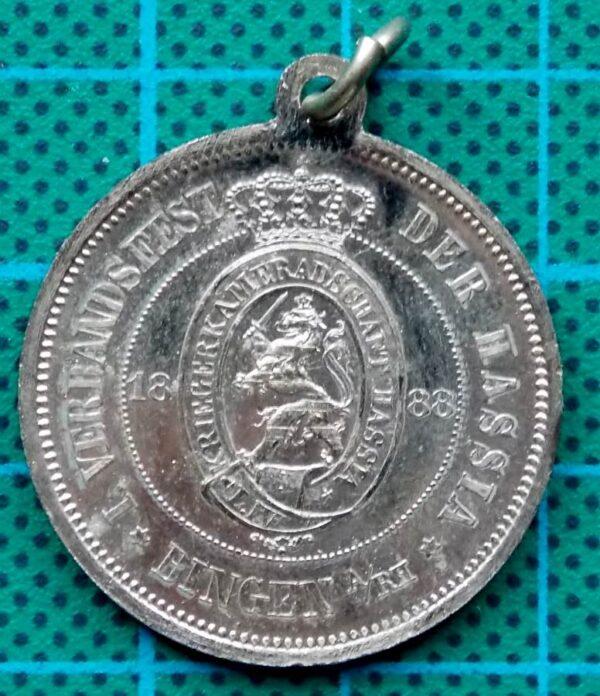 1888 Wacht am Rhein City of Bingen Medallion