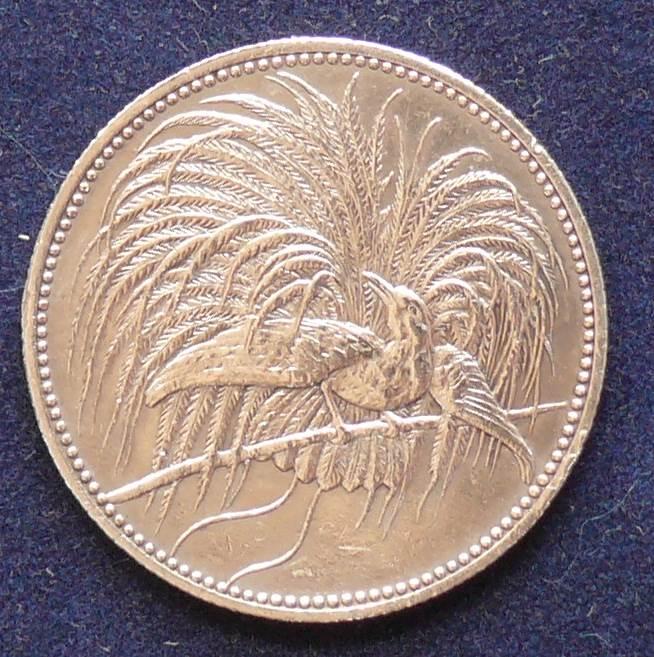 1894 DEUTSCH NEU GUINEA 1 MARK SILVER COIN WILLHELM II
