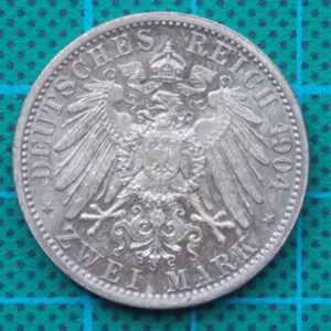 1904 DEUTSCHES KAISERREICH 2 MARK SILVER COIN
