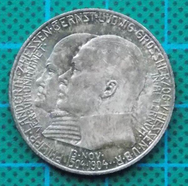 1904 DEUTSCHES KAISERREICH 2 MARK SILVER COIN