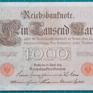 1910 REICHSBANKNOTE 1000 MARK 4580907L