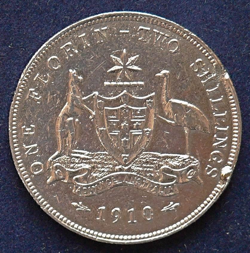 1910 Australia Florin - King Edward VII