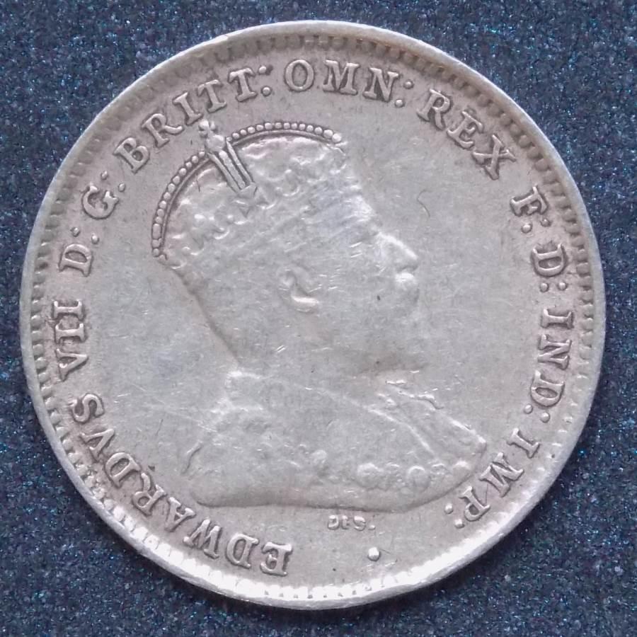 1910 Australia Threepence - King Edward VII -A