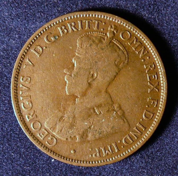 1911 Australia Half Penny - King George V