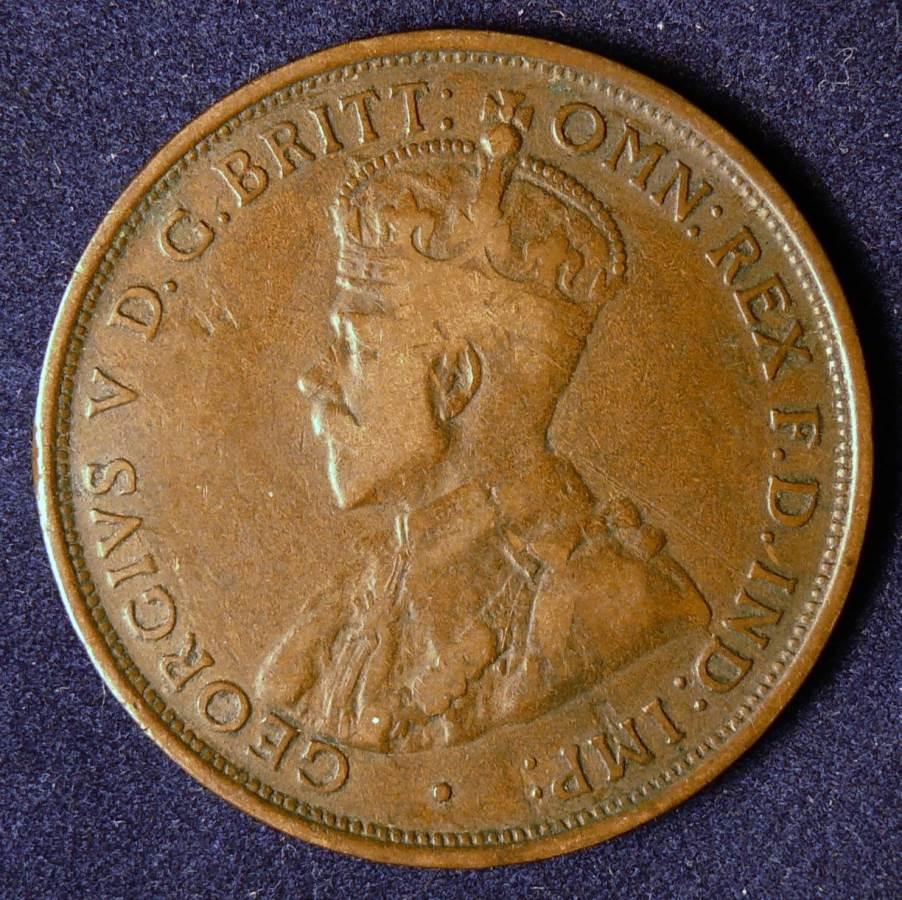 1911 Australia One Penny - King George V - A