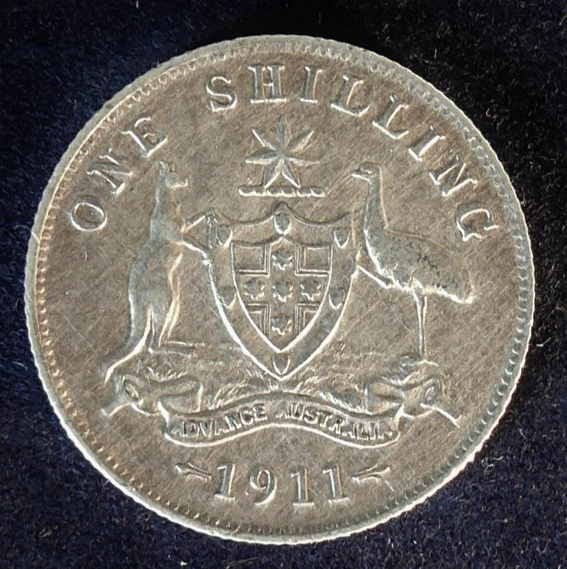 1911 Australia One Shilling - King George V