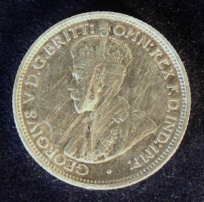 1911 Australia Sixpence - King George V