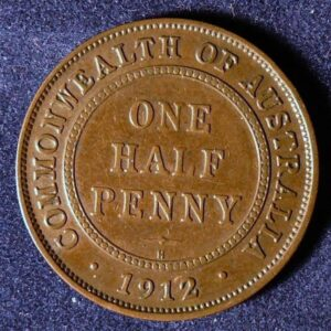 1912 Australia Half Penny - King George V