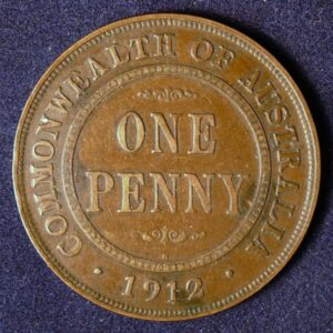 1912 Australia One Penny - King George V - A