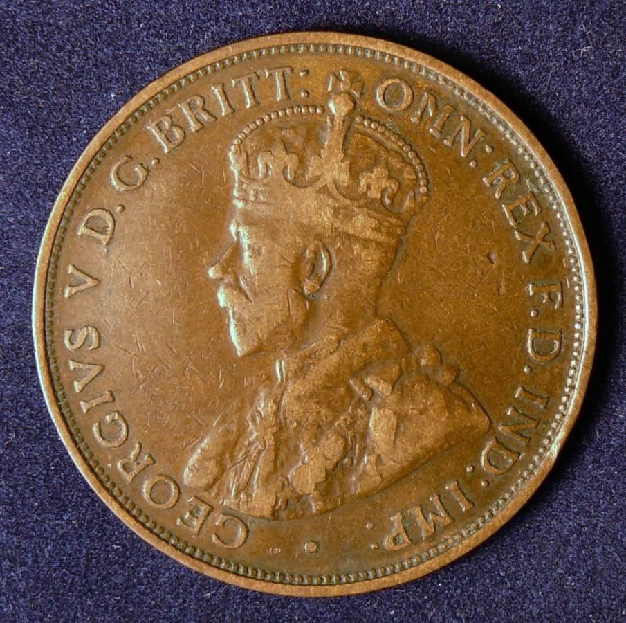 1912 Australia One Penny - King George V - A