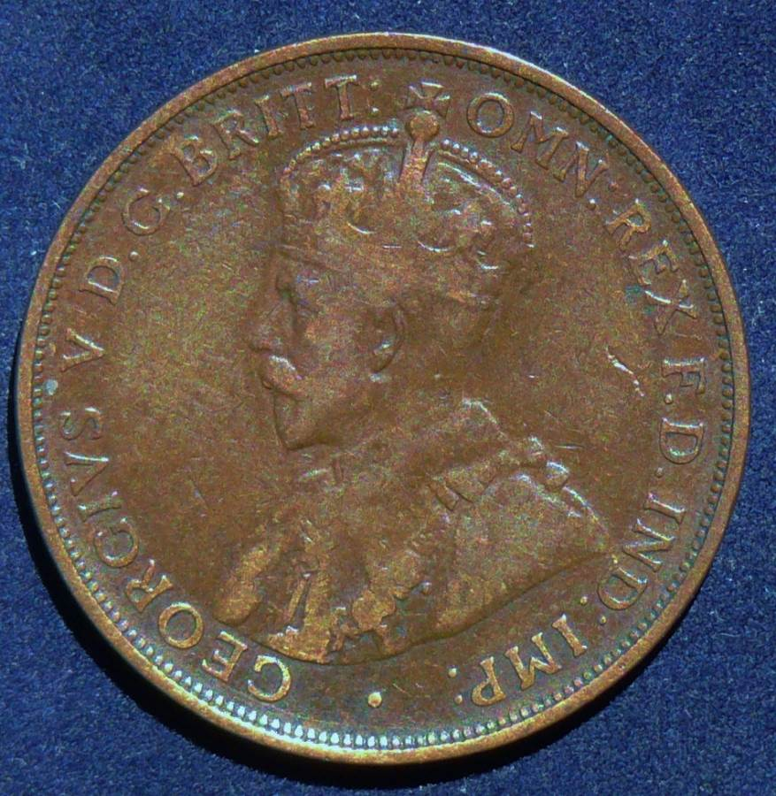 1912 Australia One Penny - King George V - B