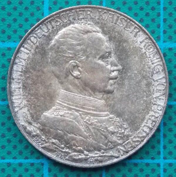 1913 DEUTSCHES REICH TWO MARK COIN