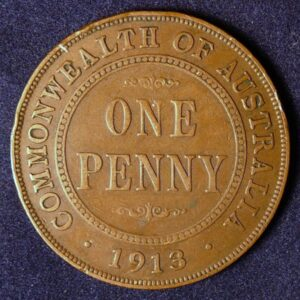 1913 Australia One Penny - King George V
