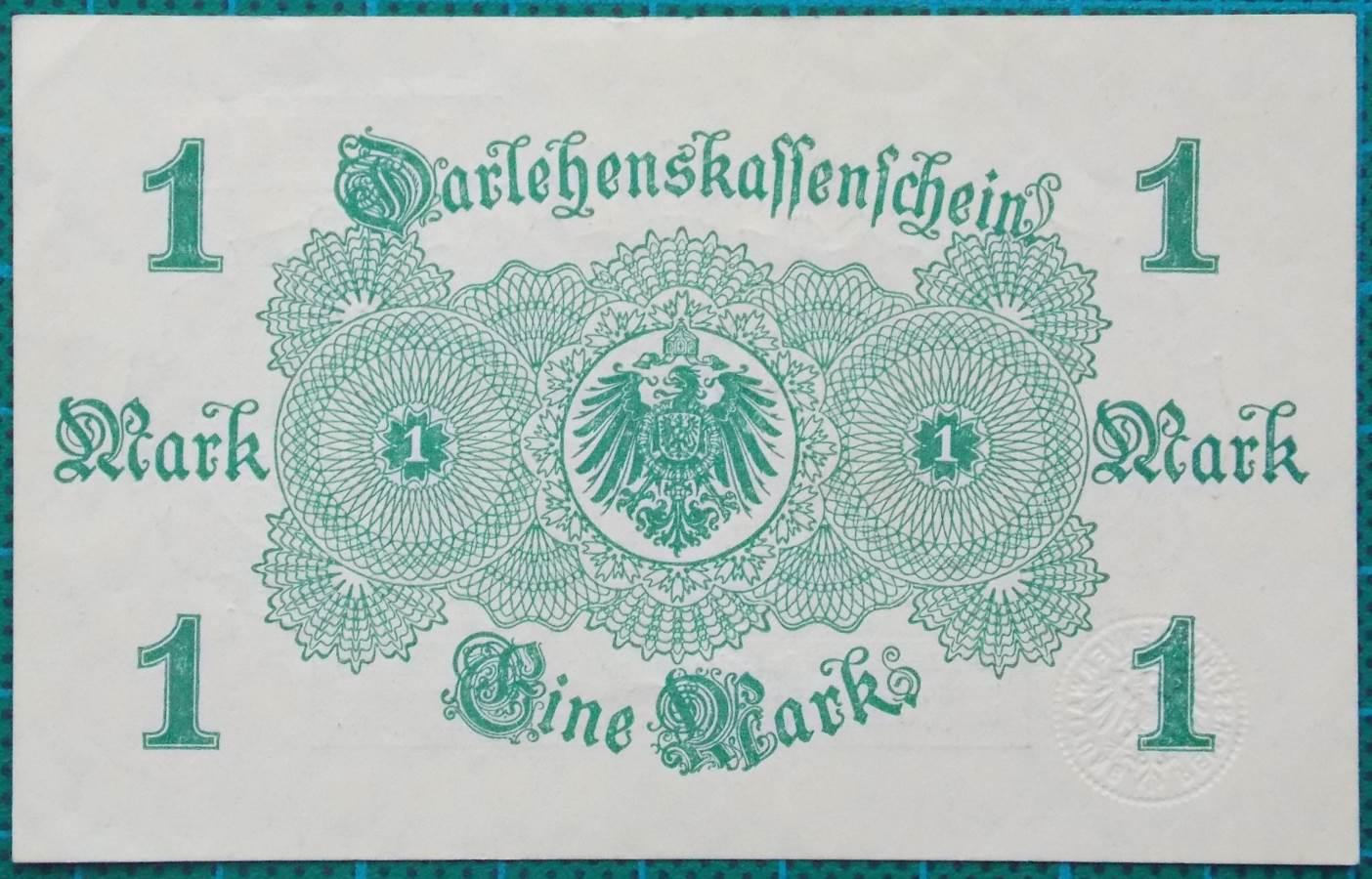1914 DARLEHNSKASSENSCHEIN EINE MARK