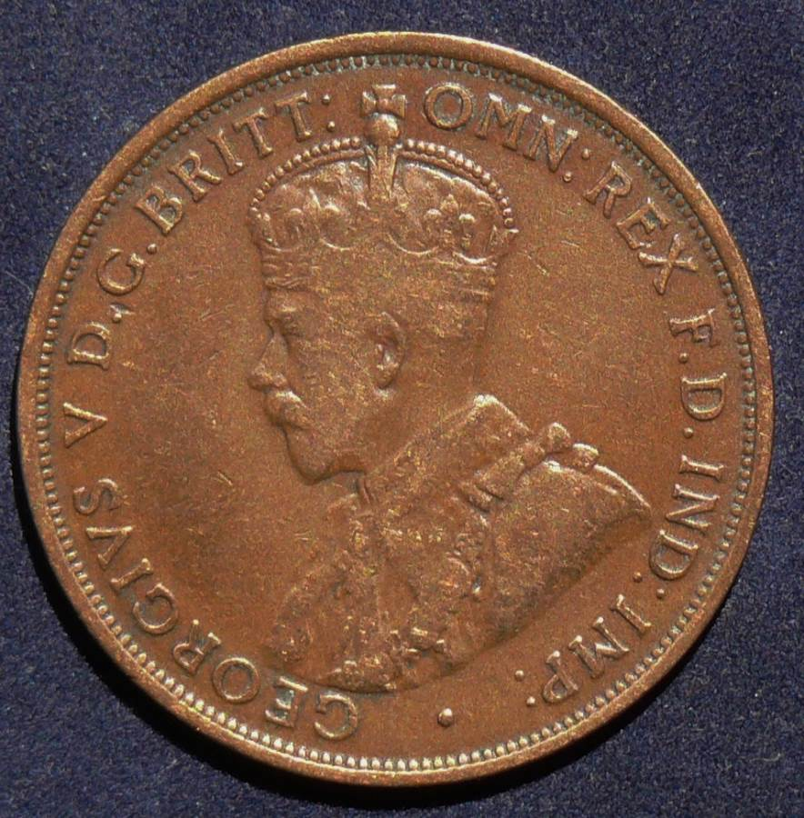 1915 Australia One Penny - King George V - A
