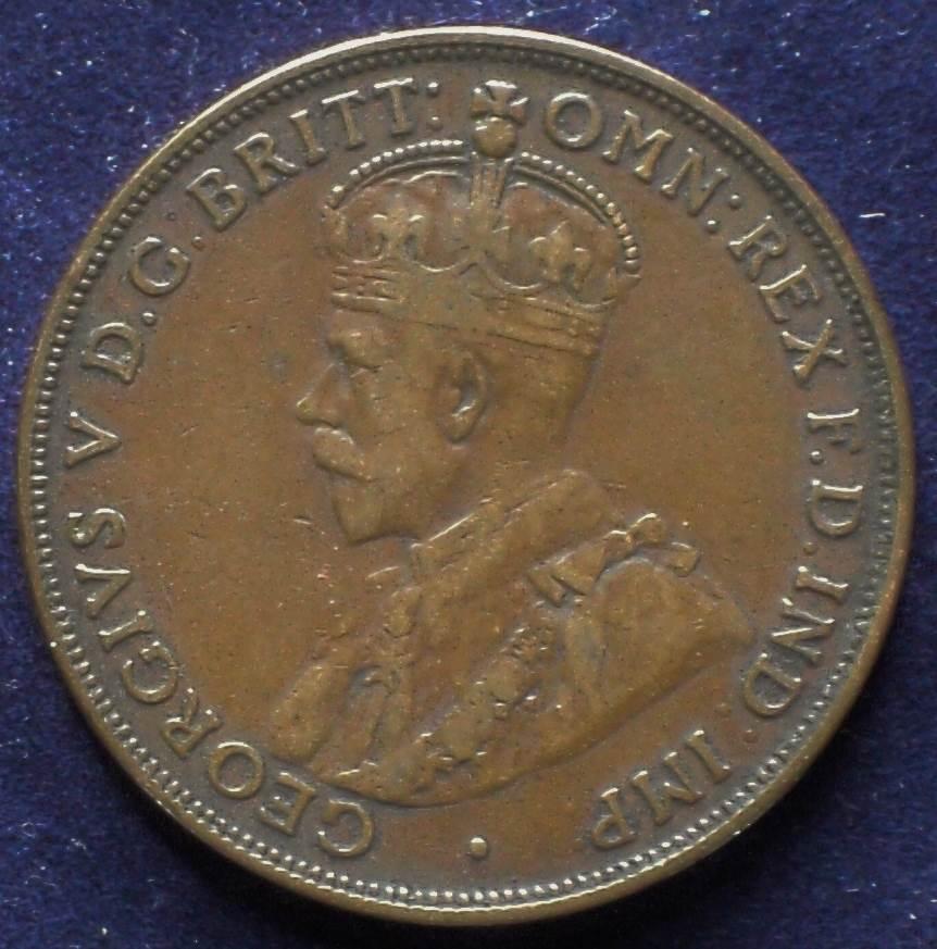 1916 Australia One Penny - King George V - A