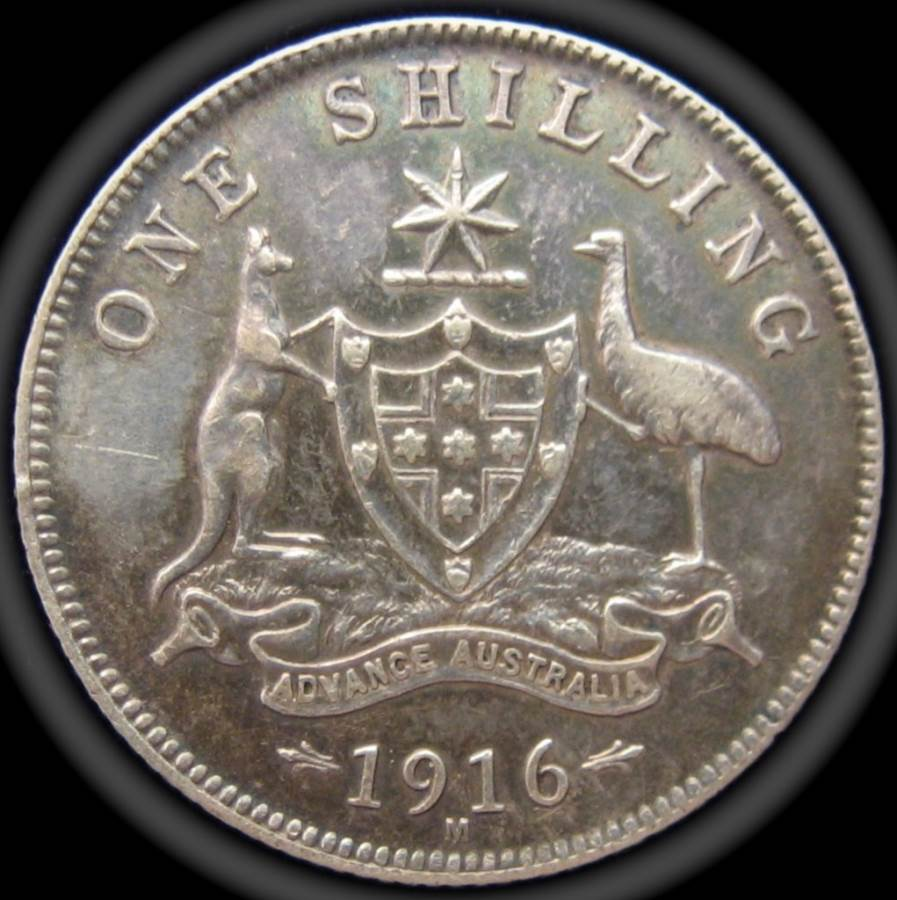 1916 Australia One Shilling - King George V