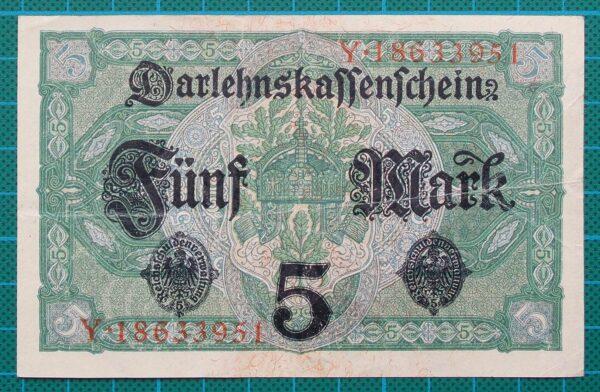 1917 DARLEHNSKASSENSCHEIN 5 MARK Y18633951