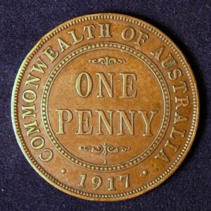 1917 Australia One Penny - King George V