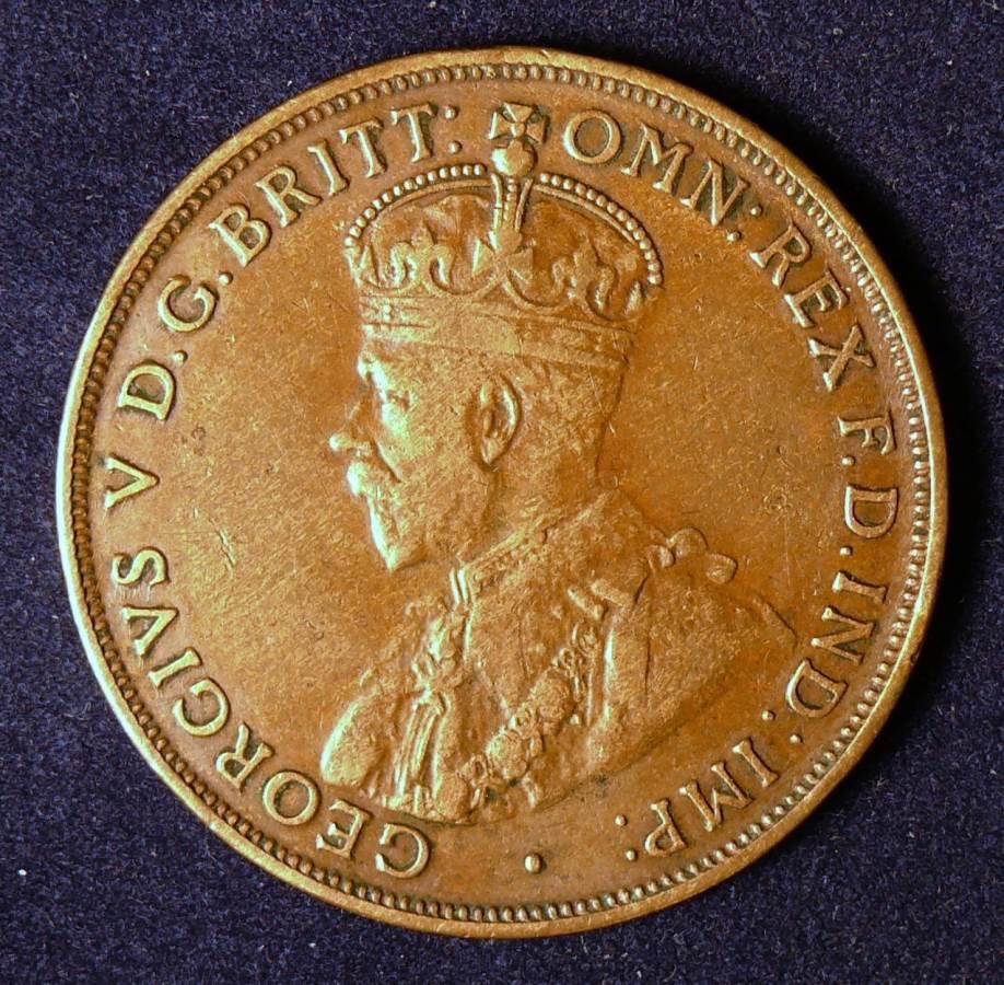 1917 Australia One Penny - King George V
