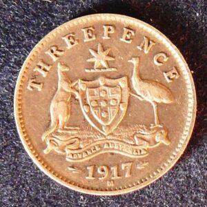 1917 Australia Threepence - King George V
