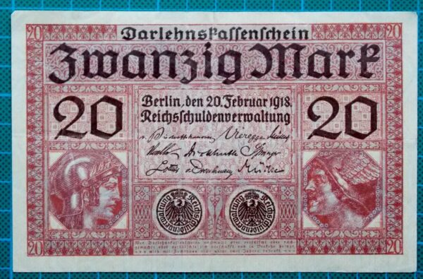 1918 DARLEHNSKASSENSCHEIN ZWANZIG MARK F1643486