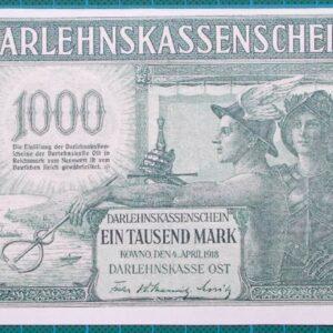 1918 Darlehnskassenscheine 1000 Marks A2430978