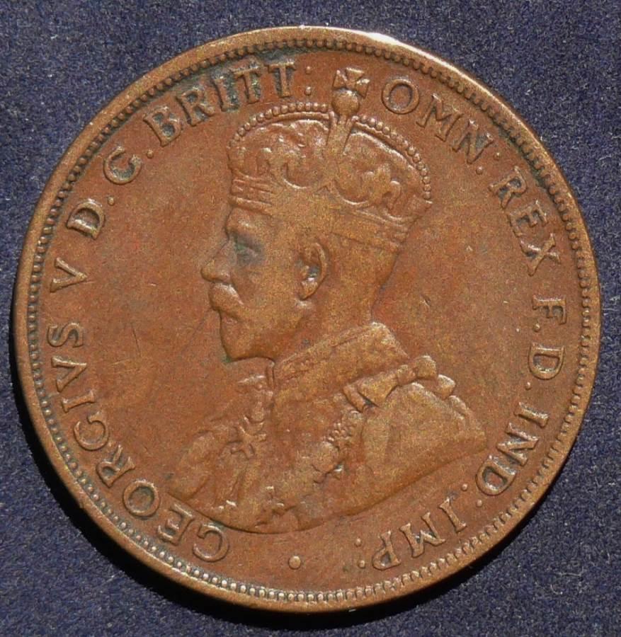 1919 Australia One Penny - King George V