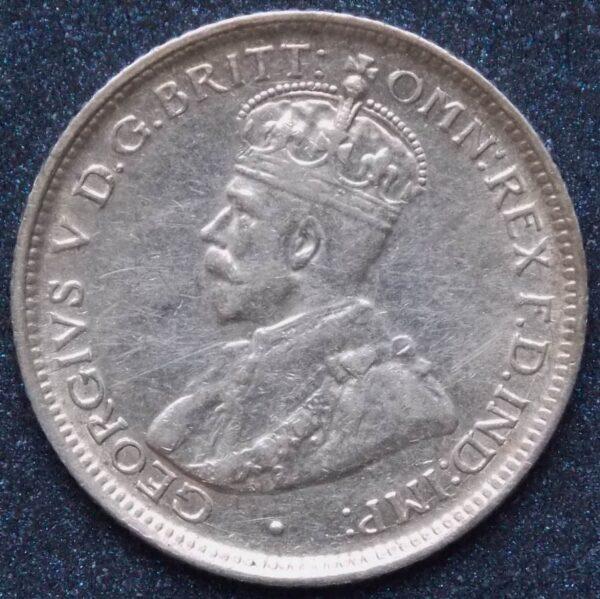 1919 Australia Sixpence - King George V