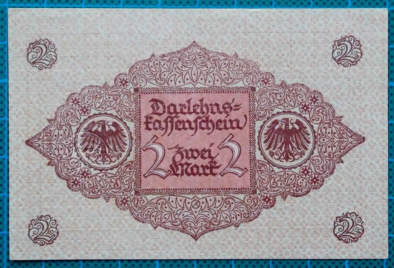 1920 DARLEHNSKASSENSCHEIN 2 MARK EMERGENCY MONEY