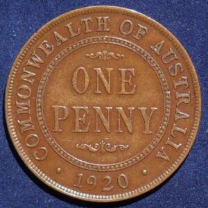 1920 Australia One Penny - King George V