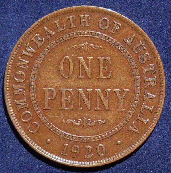 1920 Australia One Penny - King George V